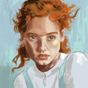 Red Digital Portrait
